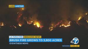 Active Wildfire Map la tuna fire u0027active fire u0027 no longer burning fire officials say