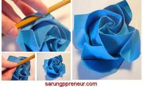 cara membuat origami bunga dari uang kertas cara membuat origami bunga mawar origami tutorial