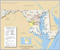 Map Of States With Capitals by Reference Map Of Maryland Usa Nations Online Project