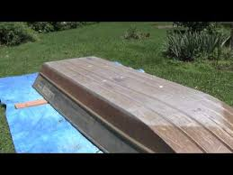14 u0027 lowe jon boat painting part 1 paint the boat a youtube
