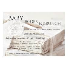 Flowers In A Book - baby shower invitations and birth announcement cards by anne vis