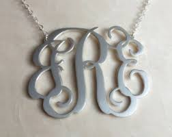 3 initial monogram necklace sterling silver 3 initial monogram necklace sterling silver monogram necklace