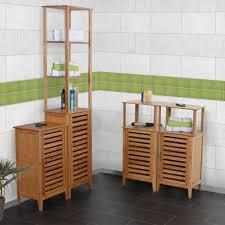 bambus badezimmer badezimmer set narita badschrank badregal standregal mit staufach