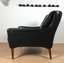 Leather Armchairs Vintage Vintage Black Leather Armchair For Sale At Pamono