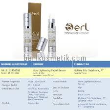 Serum Erl b erl lightening serum berl kosmetik berl kosmetik