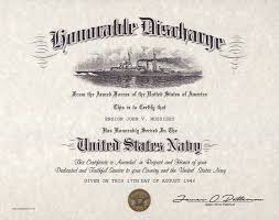 honorable discharge certificate navy honorable discharge certificate version