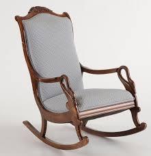 victorian style gooseneck rocking chair ebth