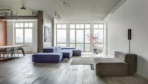 modern loft apartment in kyiv open space minimalist design
