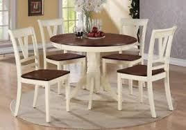 round kitchen table for 5 5 pc country 2 tone cream cherry wood round dining table side chair