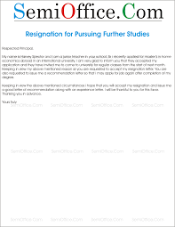 Sample Of Resignation Letters From Jobs Resignation Letter For Further Studies Png