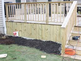 materials as the skirting deck u2014 home landscapings cool deck