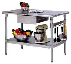 kitchen work tables islands stainless steel kitchen work table island cucina forte 48 in x