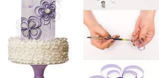 tutorial quilling flower quilled flower tutorial cake masters magazine