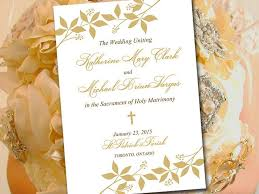 catholic wedding program catholic wedding program template printable fold ceremony