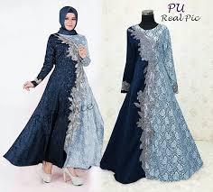 Baju Muslim Brokat 99 model baju gamis brokat terbaru 2018 cantik murah