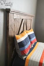 How To Make A Platform Bed With Headboard by Diy Barn Door Headboard Shanty 2 Chic