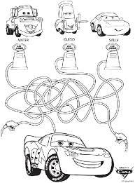 disney cars maze coloring crayola