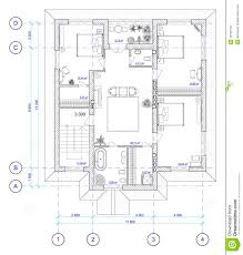 architectural plan of 2 floor of house royalty free stock images