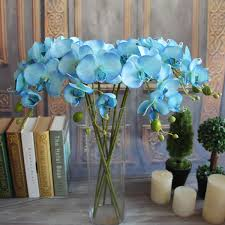 artificial plants simulation decorative butterfly orchid silk