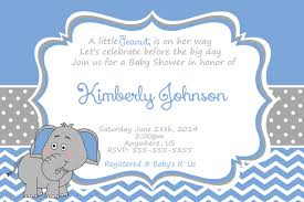 funny and happy elephant baby shower invitations card a handsome