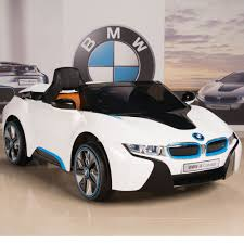 bmw concept i8 bmw i8 12v ride on kids battery power wheels car rc remote white