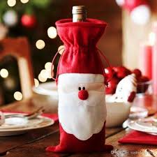 santa bottle cover of wine table