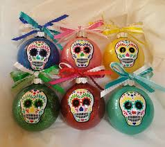 sugar skull christmas ornaments day of the dead custom ornament