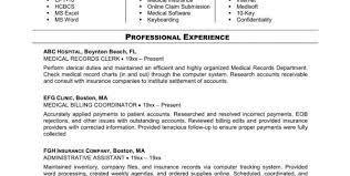 Billing Specialist Resume Sample by Medical Billing And Coding Resume Sample Medical Billing And