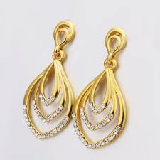 simple gold earrings luxury gold plated women dress earrings simple designer vintage