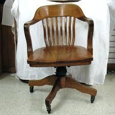 wooden rolling desk chair antique wooden office chair vintage wood office chair pertaining to