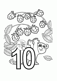 number 10 coloring pages for preschoolers counting numbers