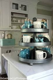Kitchen Counter Decorating Ideas Country Farmhouse General Store Wire Wall Bin Basket Primitive