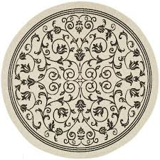 Round Indoor Outdoor Rug Shop Safavieh Courtyard Heirloom Gate Sand Black Round Indoor