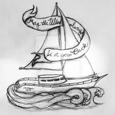 sailboat tattoo design by bluefishrun on deviantart