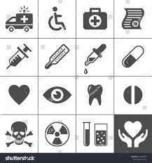 medical health icon set simplus series stock vector 146098007