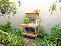Garden Potting Bench Pallet Potting Bench Plans Pallet Wood Projects