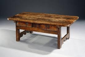 A 17th Century Spanish Walnut Table Unusually Reduced To Sofa