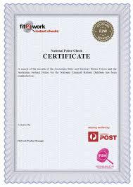 clearance certificate sample police checks australia post
