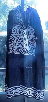 ritual robes and cloaks celtic knot cloak black and green celtic knot ritual robe