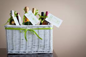bridal shower wine basket bridal shower gift wine basket the celebration society