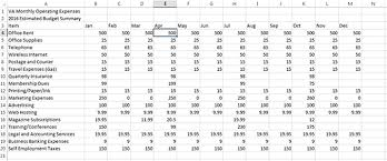 Dues Spreadsheet Track Your 2016 Monthly Operating Expenses With An Excel Workbook