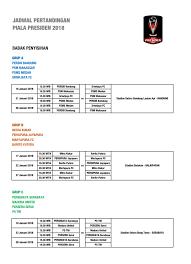 Jadwal Piala Presiden 2018 Jadwal Piala Presiden 2018 Pembukaan Di Gbla Bandung Di