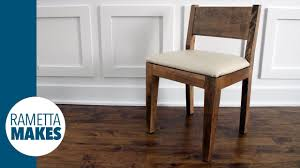 making modern furniture how to make a modern wood chair with leather seat diy youtube