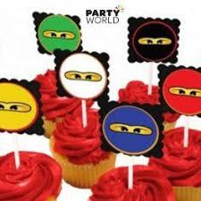 ninjago cake toppers ninjago cupcake toppers 6pk
