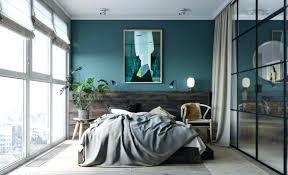 deco chambre loft chambre style loft deco style loft chambre mur bleu canard