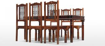 Jali Dining Table And Chairs Jali Sheesham 180 Cm Thakat Dining Table And 6 Chairs Quercus Living