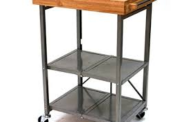 folding kitchen island cart origami folding kitchen island cart butcher block