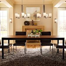 dining room linear chandelier dining room intended for trendy