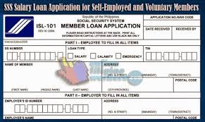 sss salary loan application for self employed and voluntary