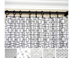 Gray Window Curtains Gray White Curtains Etsy